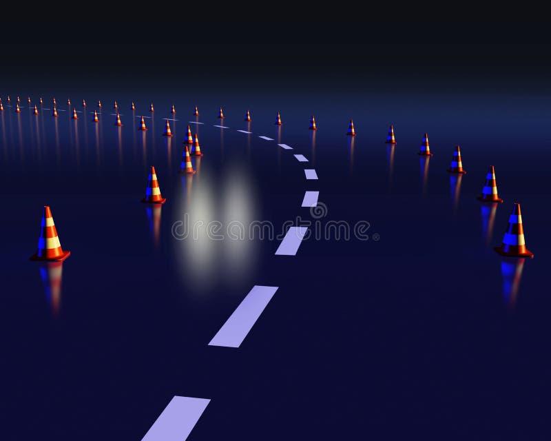 Download Notkegel, Die Eine Gefährliche Kurve Markieren Stock Abbildung - Illustration von schauen, person: 26361501