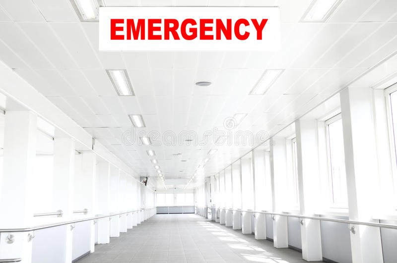 Notkrankenhauskorridor lizenzfreies stockbild