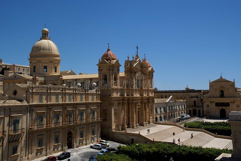 Noto baroque town, Sicily, Italy stock image