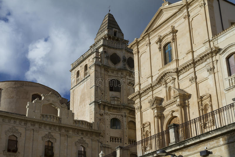 Noto barrocco, Sicilia fotografie stock