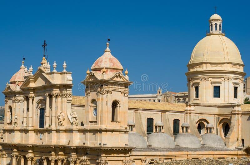 Noto Cathedral or Cattedrale di Noto, La Chiesa Madre di San Nicol royalty free stock photo