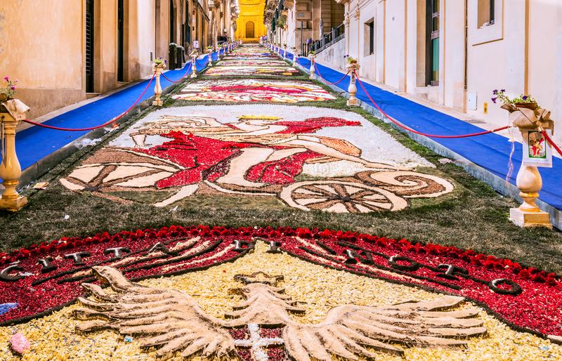 Noto, Italy. Sicily - The Flower Festival royalty free stock photos