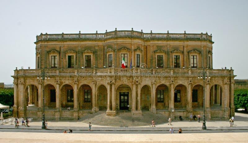 Noto Palazzo Ducezio foto de archivo libre de regalías