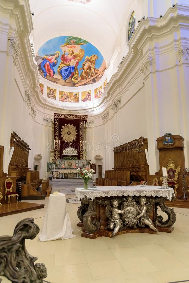 Altar of the Cathedral of Noto royalty free stock photography