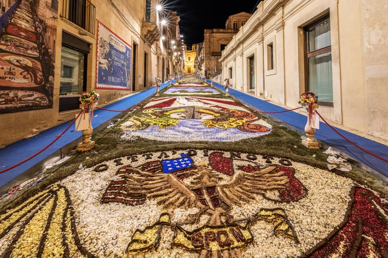 The Flower Festival of Noto in Sicily royalty free stock photo