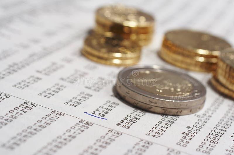 notowania akcji monety fotografia royalty free
