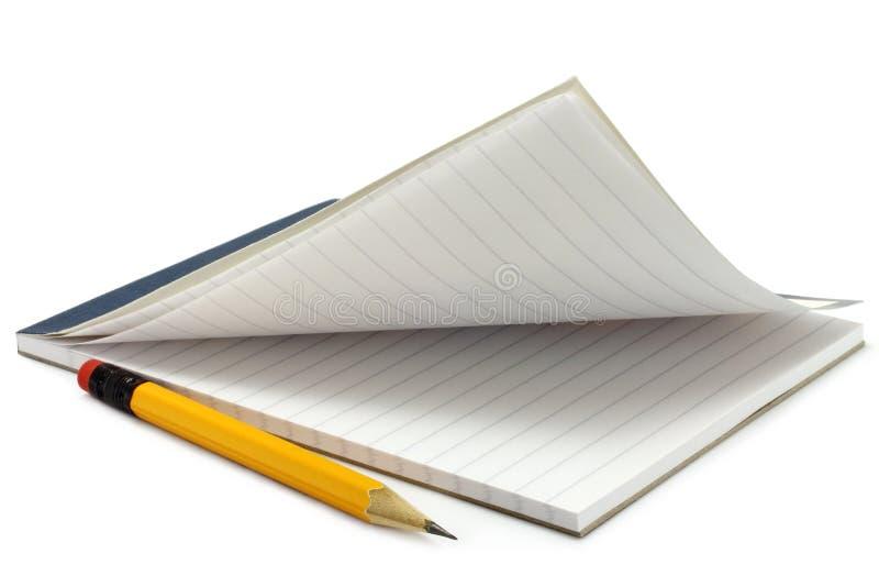 Notpad y lápiz imágenes de archivo libres de regalías