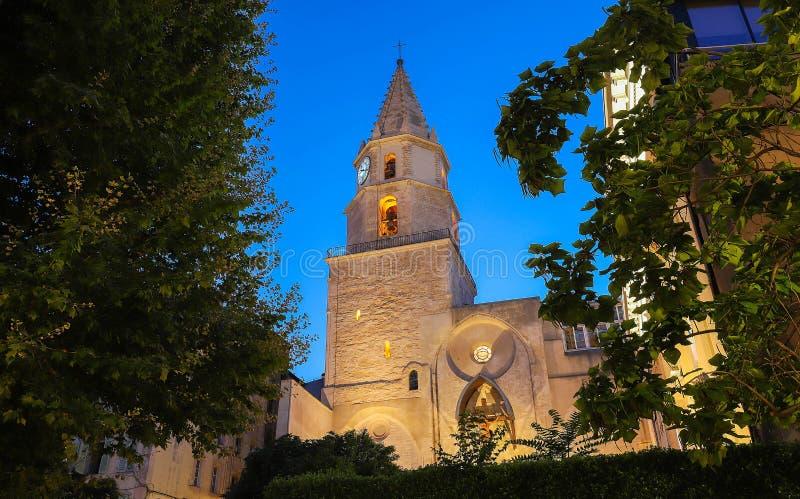 Notre贵妇人desAccoules教会在马赛 马赛,普罗旺斯Alpes彻特d ` Azur,法国 免版税库存照片