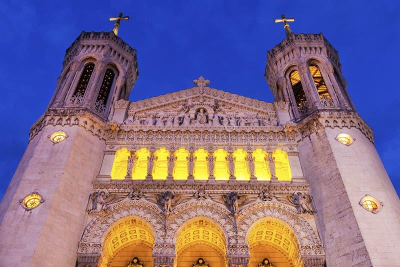 notre базилики dame de fourviere lyon стоковые фото