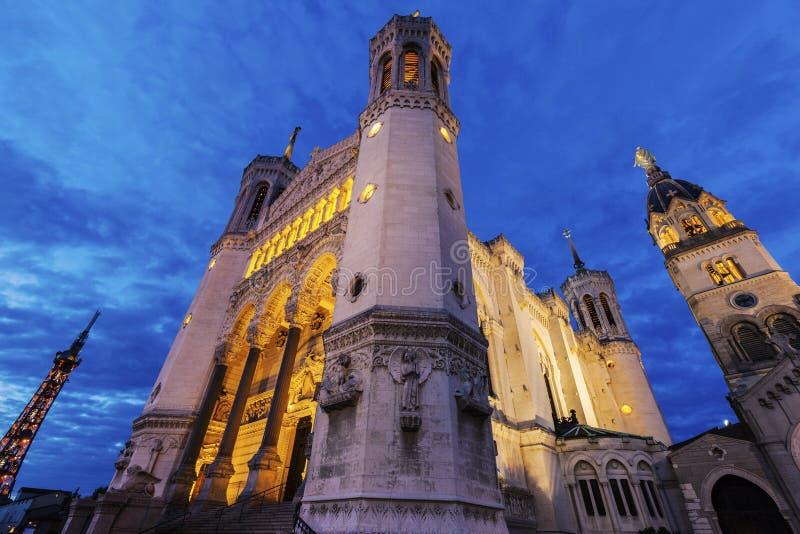 notre базилики dame de fourviere lyon стоковые изображения rf