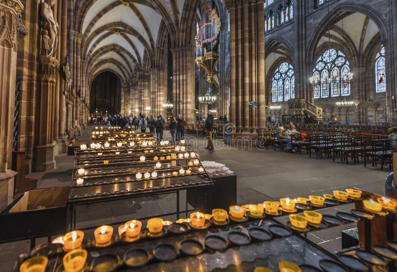 Notre Запруда de Страсбург стоковая фотография rf