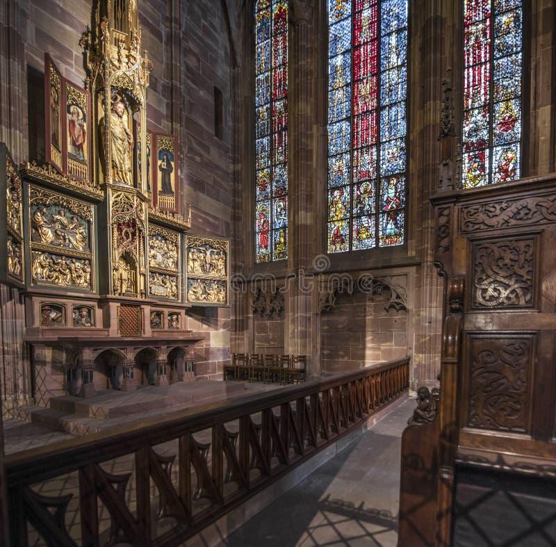 Notre Запруда de Страсбург стоковое фото rf