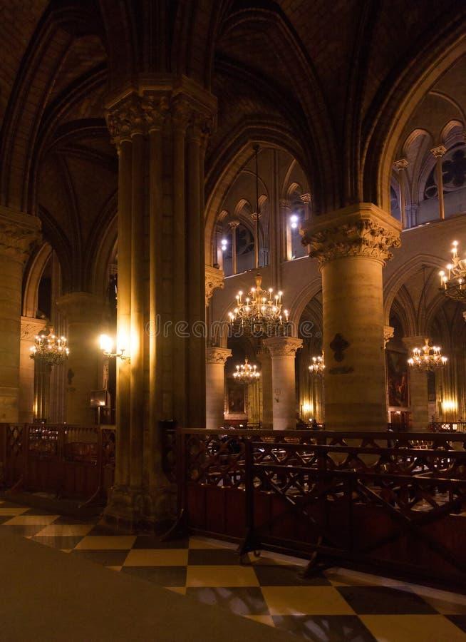 notre интерьера dame собора стоковое изображение rf
