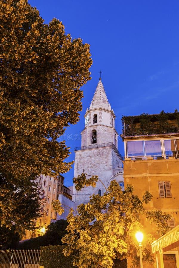 Notre贵妇人desAccoules教会在马赛 免版税库存图片