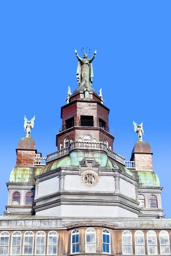 Notre-Dama-de-Bon-Secours histórico, la capilla más vieja en Montreal fotos de archivo libres de regalías