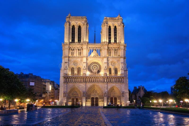 Notre Damae katedra w Paryż zdjęcia royalty free