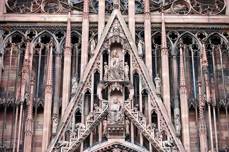 Notre Damae katedra w Strasburg, Alsace, Francja fotografia royalty free