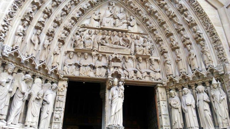 Notre Damae katedry entrace fotografia royalty free