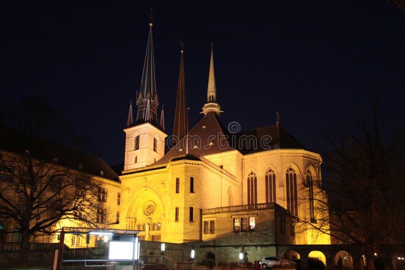 Notre Damae Luksemburg obraz royalty free