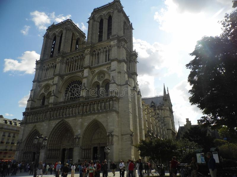 Notre Damae Paryż Catedral zdjęcia stock
