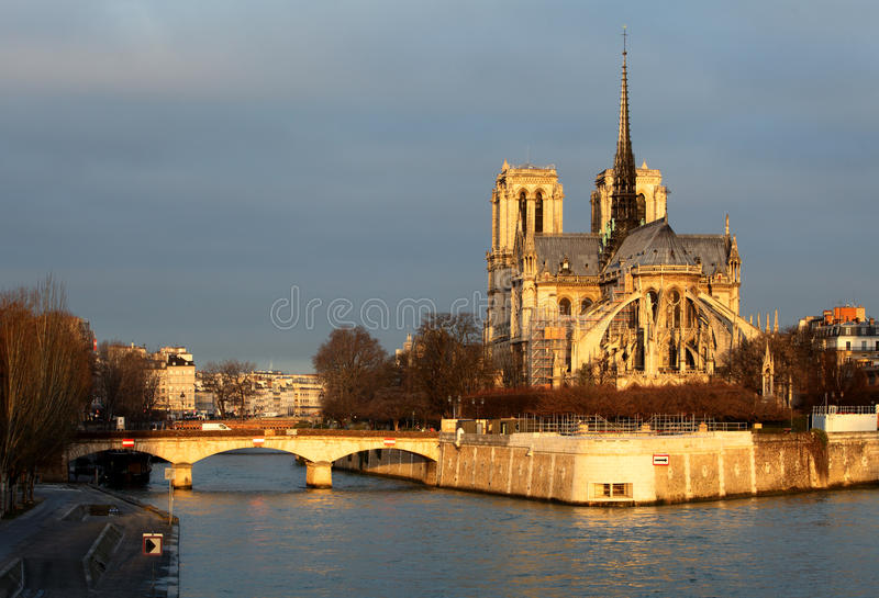 Notre Damae w Paryż, Francja obraz royalty free