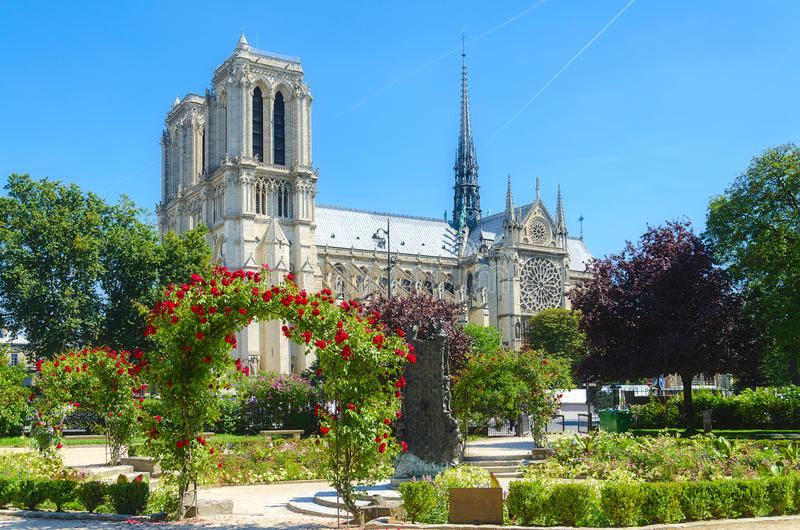 巴黎Notre Dame。 库存照片
