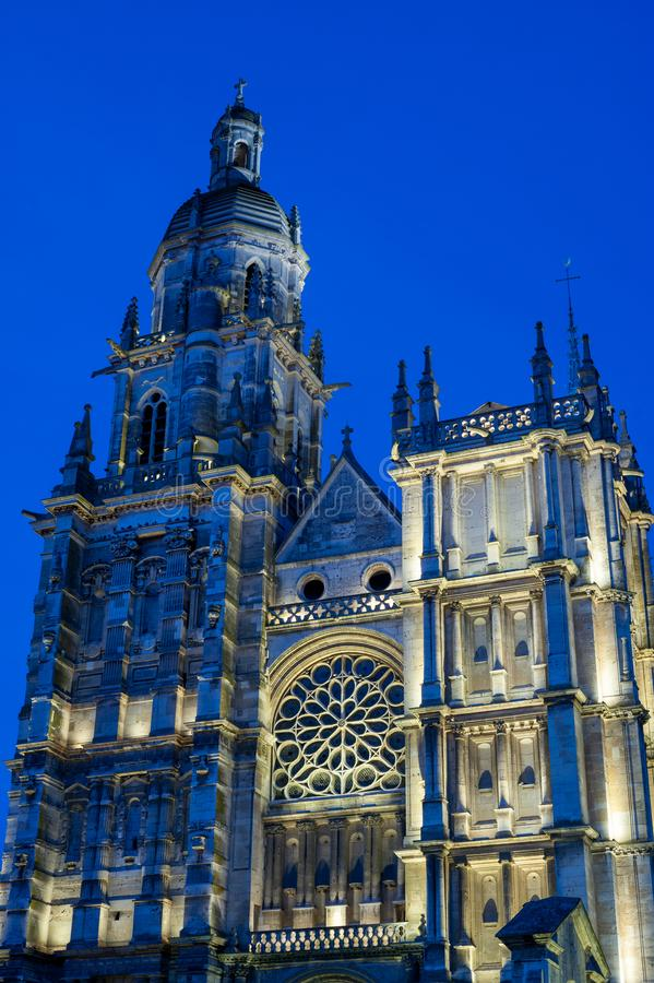 Notre Dame大教堂在埃佛莱克斯 免版税库存图片