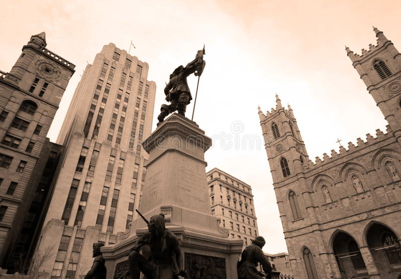 Notre Dame大教堂蒙特利尔 免版税库存照片