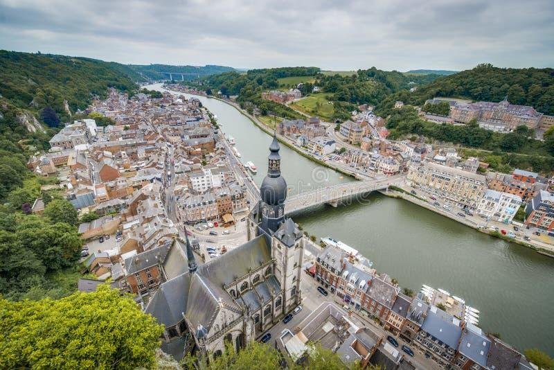 Notre Dame教会在迪南,比利时 免版税库存图片