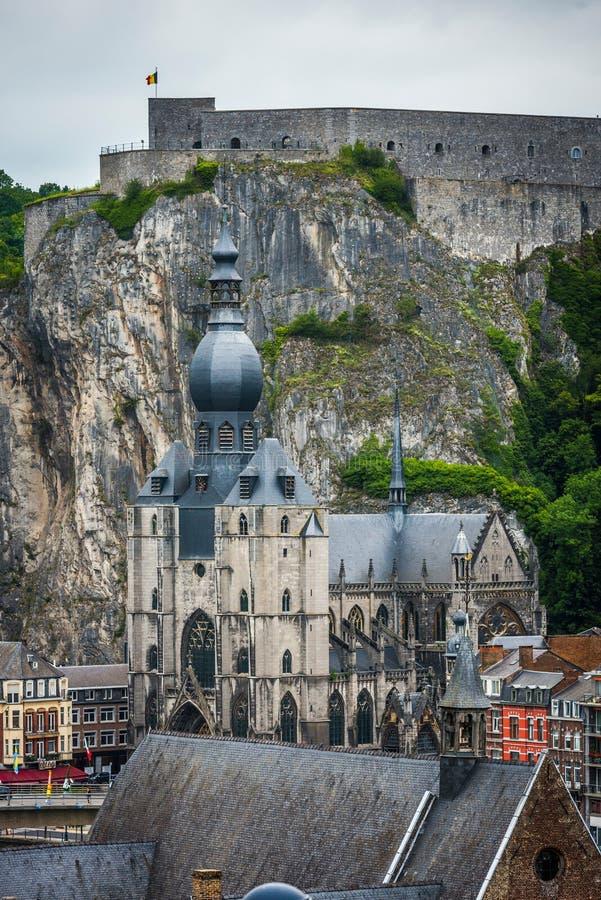 Notre Dame教会在迪南,比利时 免版税库存照片