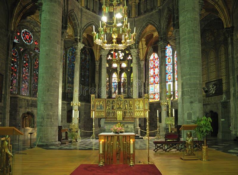 Notre Dame牧师会主持的教堂  免版税库存图片