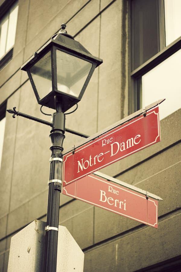 Notre Dame街在蒙特利尔 库存照片