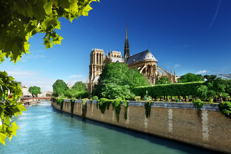 Notre Dame Παρίσι στοκ εικόνα με δικαίωμα ελεύθερης χρήσης