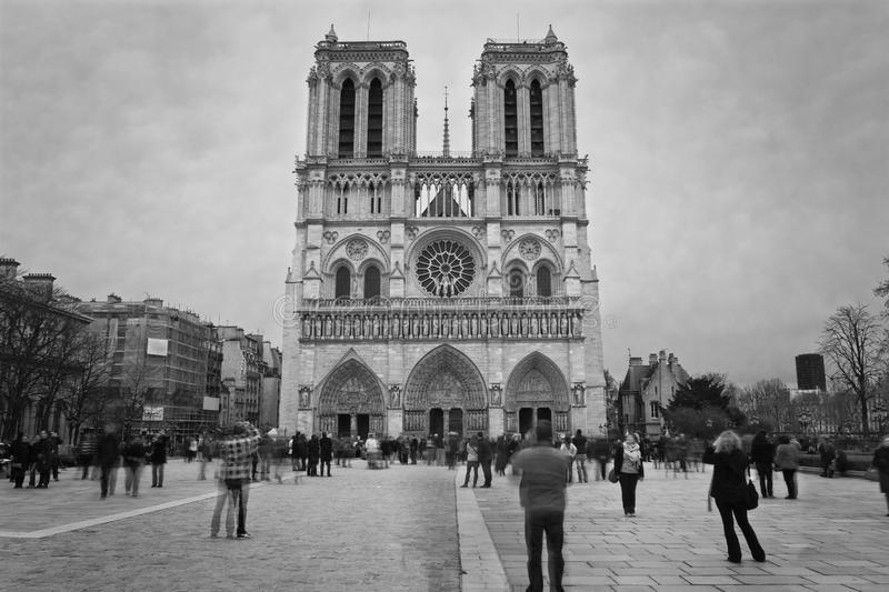 Notre Dame. Cathedral in Paris, France stock photo