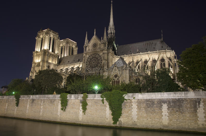 Download Notre dame stock photo. Image of city, evening, famous - 26307536