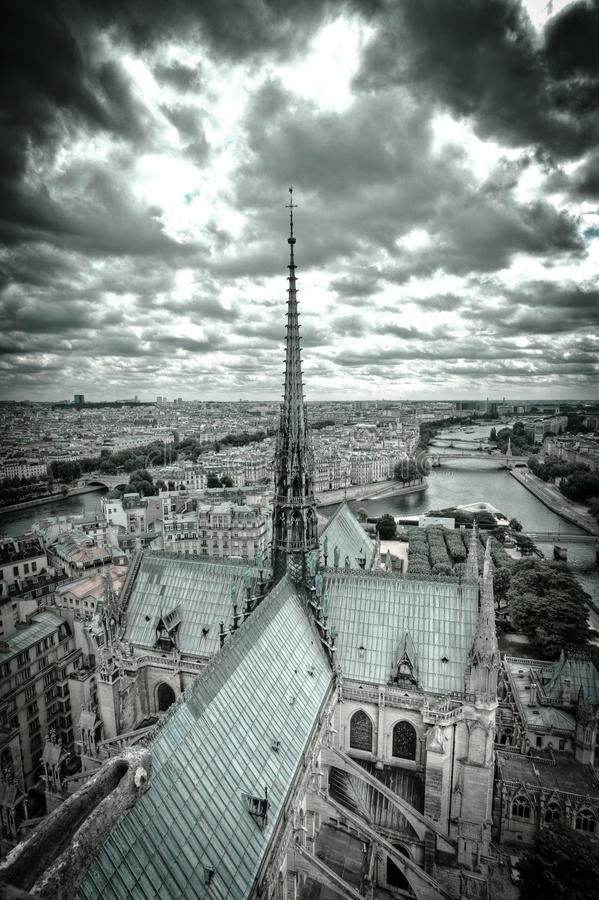 Notre Dame royaltyfri fotografi