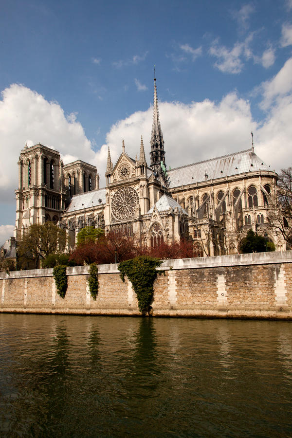 Notre Dame巴黎 库存图片
