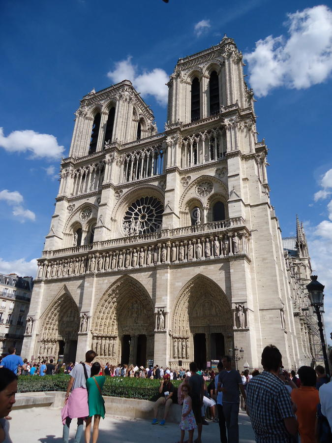 Notre Dame imagens de stock