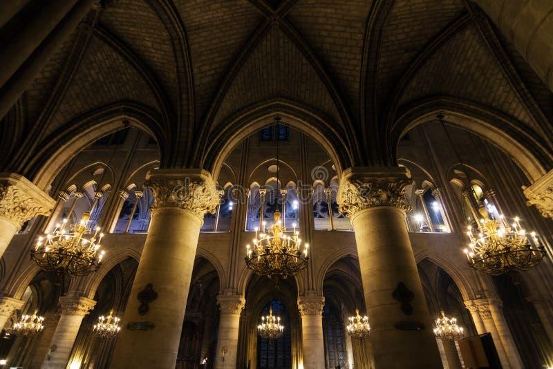 Notre-Dame bågar arkivfoton