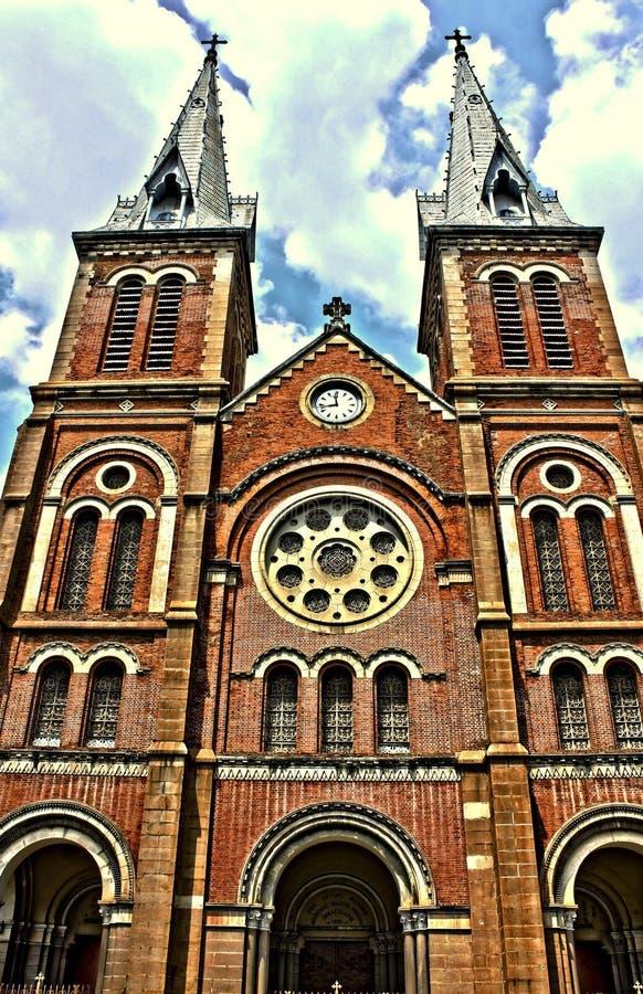 Notre-Dame Balisca kościół Saigon fotografia royalty free