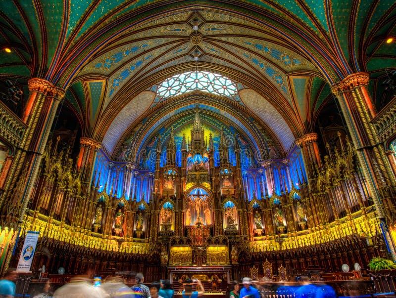 Notre Dame Basilica, interno, Montreal, controllo di qualit?, Canada fotografia stock libera da diritti