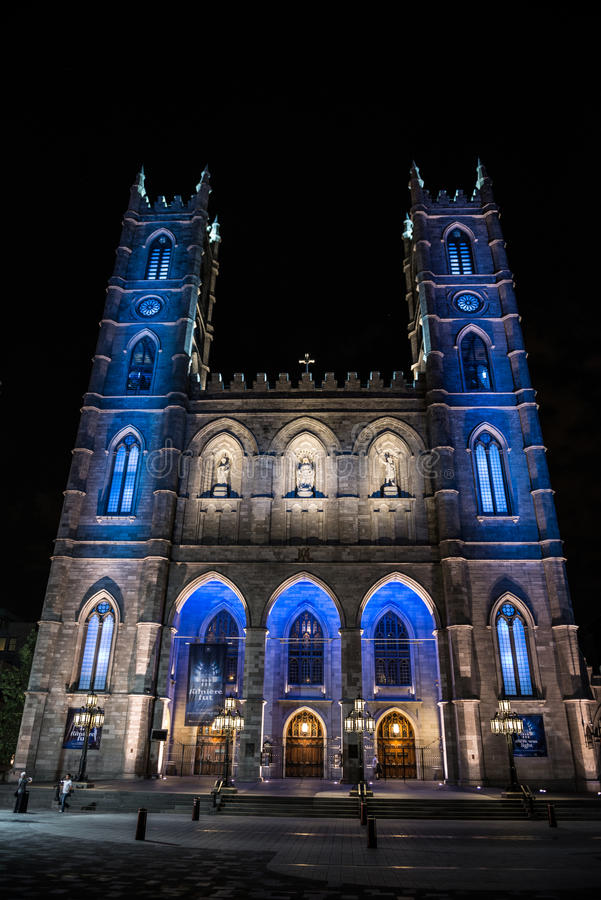 Notre Dame Basilica, Montreal, QC royalty free stock photography