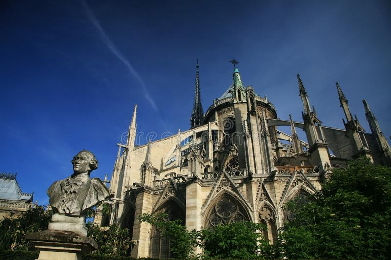 Notre Dame basilica in Paris royalty free stock image