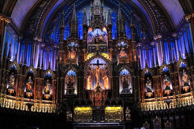 Notre-Dame basilika av Montreal royaltyfri foto