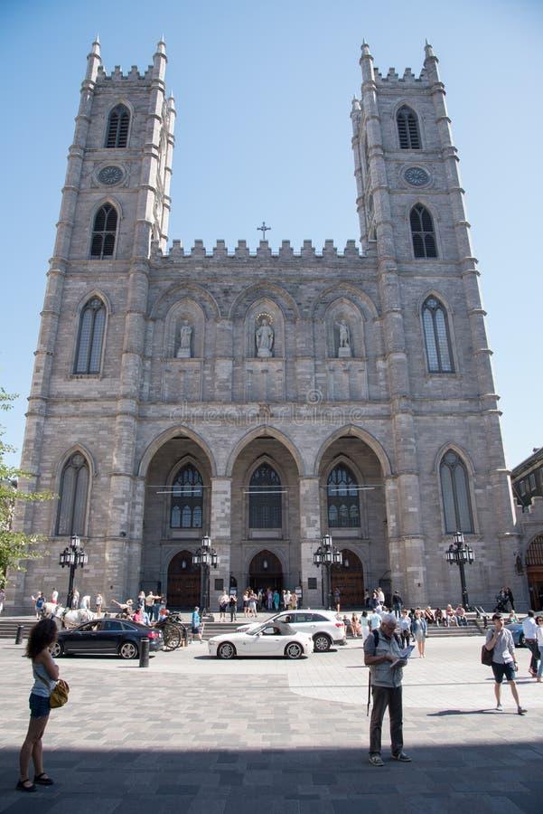 Notre-Dame-Basilika, Montreal, Quebec, Kanada stockbild