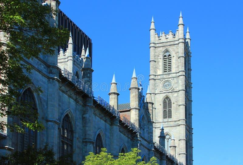 Notre-Dame bazyliki Montreal Kanada QC zdjęcie stock