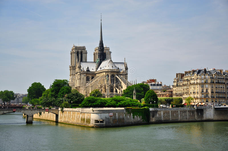 Download Notre-Dame Cathedral stock photo. Image of gothic, canal - 15126906