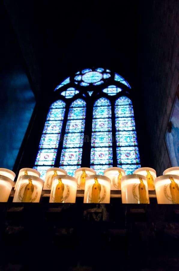 Notre Dame Cathedral Candles photo libre de droits