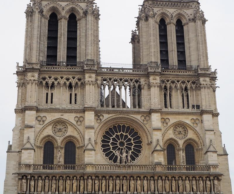 Notre Dame Cathedral - catholic church in the center of the city, one of the symbols of the French capital. Paris. France. stock images