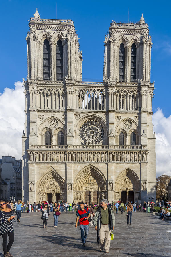 Notre Dame cathedral church Paris France royalty free stock photo